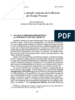 Definición, Método y Práctica de La Historia Del Tiempo Presente
