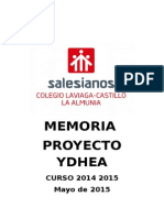 Memoria Ydhea Salesianos Laalmunia