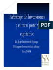Arb Inversiones Trato Justo y Equitativo