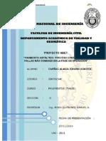Pavimento Asfáltico Proceso Constructivo y Fallas Más Comunes en La Fase de Operación
