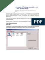 Creación de Un Formulario en Frontpage Conectado a Una Base de Datos Access