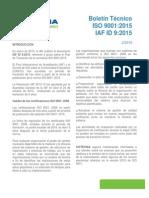 Transición ISO 9001 2015