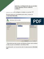 Instalación y Configuración de Un Servidor FTP Bajo Windows Server 2008 R2 Web