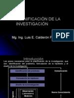PLANIFICACIÓN DE  INVESTIGACIÓN