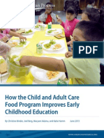 How the Child and Adult Care Food Program Improves Early Childhood Education