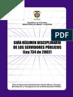 Guia Regimen Disciplinario Ley 734 2002