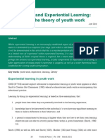 John Dewey and Experiential Learning, Developing the Theory of Youth WorkGrover