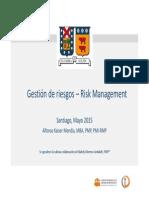 UTFSM 2015.1 - Gestión de Riesgos Sesión 1 v 1.0