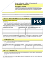 Dependent Verification Worksheet VD1