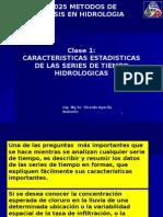 Características Estadísticas de Series Hidrológicas
