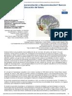 ¿Neuroeducación_ Neuroevolución o Neurorevolución_ Nuevos Paradigmas Para La Educación Del Futuro