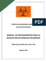 Manual de Procedimiento Para La Recoleccion de Residuos