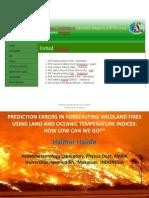 prediction error in wildfire forecasting
