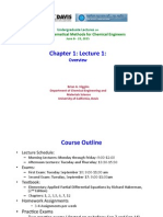 Ech 140 Lecture 1 Overview