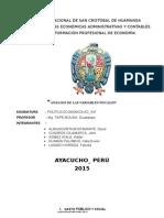 Variables Fiscales Perú 2015