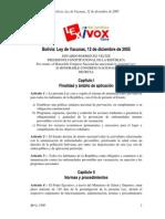 Ley Sobre Vacunas en Bolivia 2005