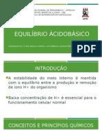 Equilíbrio ÁCIDO-BÁSICO