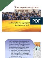 ERP for campus management.