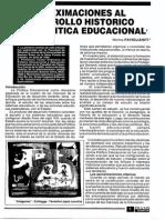 APROXIMACIONES AL DESARROLLO HISTÓRICO DE LA POLÍTICA EDUCACIONAL