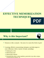Effective Memorization Techniques