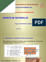 Aporte de Materiales