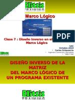 Clase 7 Diseño Inverso en El Modelo Marco Lógico