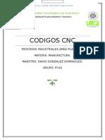 Codigos CNC Manufactura