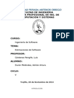 Estimaciones de Software
