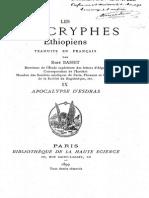 LES APOCRYPHES ETHIOPIENS - ESDRAS