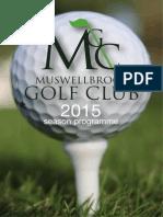 2015 season booklet - mbk golf club