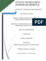 Ensayo U4 administracion y tecnicas de mantenimiento