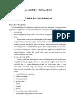Manajemen Perpajakan - Overview PPh