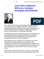 Franz Delitzsch (1813, Delitzsch - March 4, 1890) Was a German Lutheran Theologian and Hebraist.