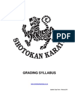 Shotokan Karate Grading Syllabus