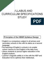Syllabus and Curriculum Spec