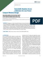 Memristor-Based Nonvolatile Random Access