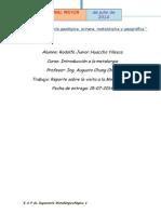 Informe de la vista a la Mina Cuajone(Moquegua) Ing. metalurgica- UNMSM