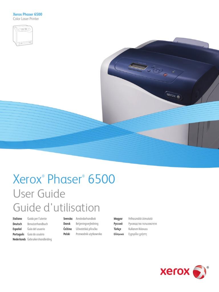 Xerox phaser 6500 драйвер скачать windows 7