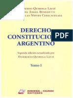 Derecho Constitucional Argentino Quiroga Lavie Tomo I