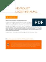 2002 Chevrolet Trailblazer Manual