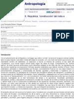 Ecuador Siglos XIX y XX. República, 'Construcción' Del Indio e Imágenes Contestadas