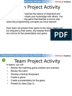 Java Programming Team Project Activity
