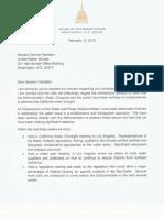 Senator Feinstein Letter