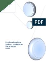 Buku Manual Pengisian Pendaftaran Online SMUP S2