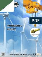 Electric Chain Hoist 950199 BB Windmill Hoist Series Eng