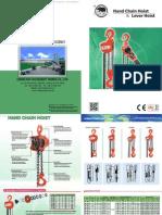 Manual Chain Hoist 950181 BB Manual Chain Hoist Eng