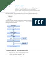 C Program Compilation Steps