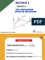 CLASE DE PUNTOS DE FLEXIÓN Y CONCAVIDAD