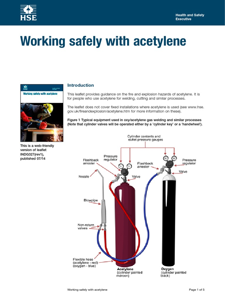 Working Safely With Acetylene | Gases | Energy Technology