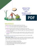 Populasi Manusia Dan Lingkungan